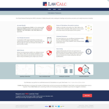 Lawcalc - Features Page